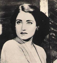 Asmahan, a beautiful Syrian singer and actress.