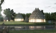 Pinecones Resort features spiky lightweight roofs made from ETFE.
