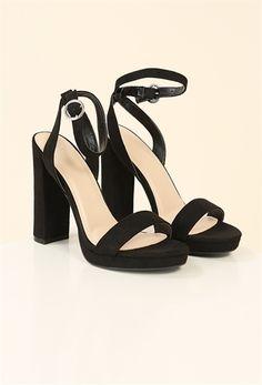 Open-Toe Ankle Strap Heel