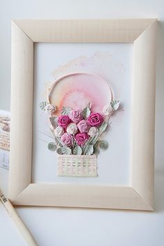 Quilling and twirled roses