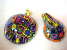 Mod Cane Extruder pendants by gem's creations, via Flickr