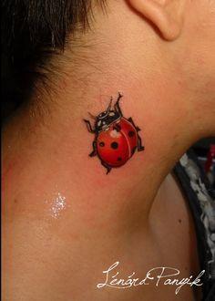 3d ladybug tattoo