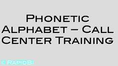 NATO Phonetic Alphabet - SIA & Call Center Training - http://rapid.bi/z7S6Mg