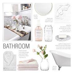 Bathroom by c-silla on Polyvore featuring interior, interiors, interior design, дом, home decor, interior decorating, Serena & Lily, Two's Company, OKA and Muuto