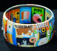 My Favorite Things Graphic Art Decoupage Bangle by Wearabella, $52.00