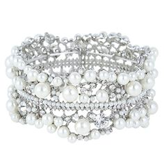 Ever Faith Crystal Bridal Flower Ivory Color Simulated Pearl Stretch Bracelet N01352-1 Ever Faith http://www.amazon.co.uk/dp/B00IJ11A24/ref=cm_sw_r_pi_dp_iijSub1QV1M58