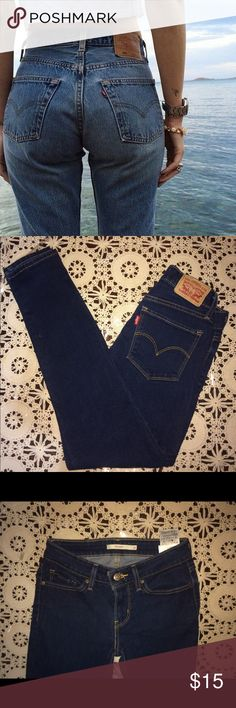 Dark Navy Blue Levi Jeans (Firm Price) Never Worn Perfect Condition Levi Jeans. Size: 26 Levi's Jeans Skinny