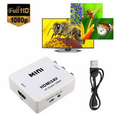 1080P HDMI to 3 RCA Audio Video AV CVBS Composite Adapter Converter for HDTV DVD Sale - Banggood.com