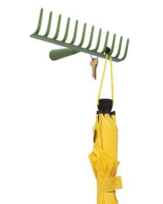 garden rake ideas hang keys, scarves, jackets, umbrellas or jewelry