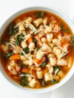 Get this all-star, easy-to-follow Pasta, Kale and White Bean Soup recipe from Food Network Kitchen