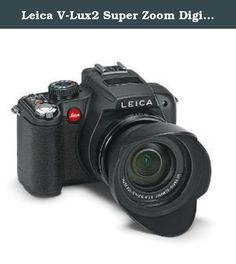 Leica V-Lux2 Super Zoom Digital Camera with 14.1 Megapixels CMOS Sensor, 24x Optical Zoom, 1080i AVCHD Full HD Video Recording (18393). The Leica V-Lux 2 is a compact camera with enormous zoom range of 25-600 mm and full HD video recording capability. The 14.1 megapixels Leica V-Lux 2 is one of the world's fastest cameras in its class making it ideal for landscapes, sport, travel and wildlife photography. Camera includes lens hood, carrying strap, rechargeable battery (Leica BP-DC 9)...