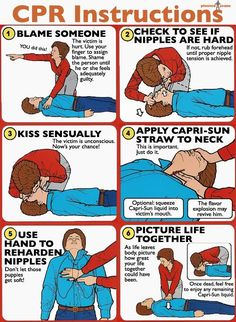 CPR Instructions. Can't stop laughing