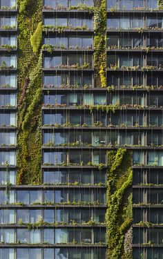 Vertical Gardens One Central Park by Ateliers Jean Nouvel LOT 1 Broadway, Central Park, Chippendale NSW Australia - Image 11 of 20 from gallery of One Central Park / Ateliers Jean Nouvel. Photograph by Murray Fredericks Architecture Durable, Architecture Cool, Sustainable Architecture, Landscape Architecture, Contemporary Architecture, Architecture Geometric, Pavilion Architecture, Minimalist Architecture, Classical Architecture