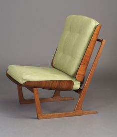 Grete Jalk; Teak and Molded Teak Laminate Lounge Chair, 1950s.