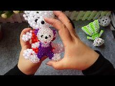 How to bead anime accessory: Teddy Bear (Sitting Pose) Hama Beads, Seed Beads, Brick Stitch Tutorial, Sitting Poses, Beaded Animals, Beaded Ornaments, Paper Beads, Beads And Wire, Beading Tutorials