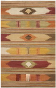 $5 Off when you share! Safavieh Navajo Kilim NVK177A Red Multi Rug