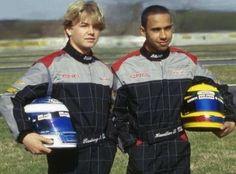 Lewis Hamilton and Nico Rosberg in 2000
