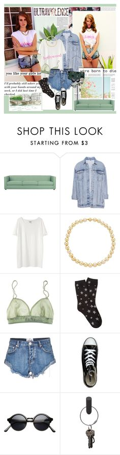 """""""We were born to die <3"""" by anelalovenathan ❤ liked on Polyvore featuring Munro American, Børn, CB2, Pull&Bear, Acne Studios, TARA Pearls, La Fée Verte, Forever 21, One Teaspoon and Converse"""