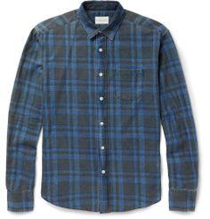 Simon MillerCheck-Print Washed Cotton-Twill Shirt|MR PORTER