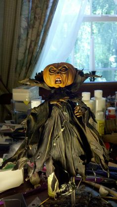 Paper Mache Pumpkin Person