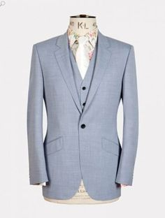 Pale Blue Wool and Cashmere Suit Groomswear Suit Ideas   Wedding Suits For A Groom