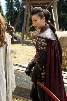 Once Upon A Time - Mulan (Jamie Chung) - awesome ponytail
