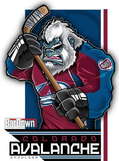 Our good friend #EPoole88 (Eric Poole) is getting ready for the upcoming season with cartoon renderings of each team. This is the Colorado Avalanche. #TSN #BarDown