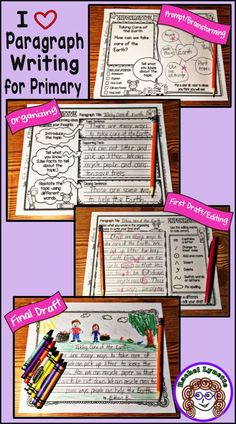 From prompt to final draft, here is a step-by-step process to help your students write opinion, informative, and narrative paragraphs. Especially for first and second grade! Great for paragraph of the week! #paragraphwriting #paragraphoftheweek