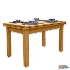 TABLE de Cuisine Rectangulaire en Pin: 110/210 cm | meublespin.fr Outdoor Tables, Outdoor Decor, Outdoor Furniture, Home Decor, Solid Pine, Furniture, Decoration Home, Room Decor, Interior Design
