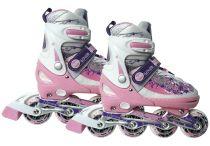 Patines ajustables en línea rosa 39-42 Skates, Cleats, Fashion, Pink, Toys, Sports, Football Boots, Moda, Cleats Shoes