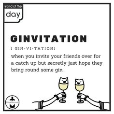 Like @ILoveGindotcom on Facebook and follow us on Instagram for more! Invite Your Friends, Word Of The Day, Gin, Bring It On, Invitations, Words, Memes, Facebook, Drinks