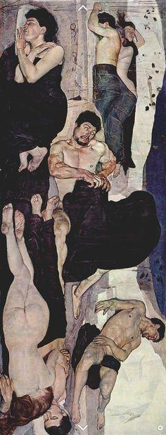 Ferdinand Hodler (1853 -1918), 1889-90, Night, oil on canvas, Berne, Kunstmuseum.