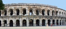 Nimes (France) is home to one of the best-preserved Roman arenas.
