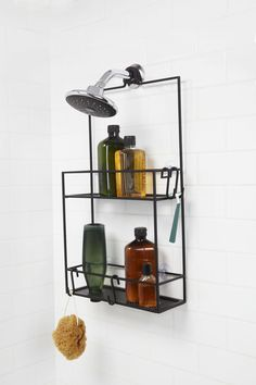 Umbra Cubiko Shower Caddy Black at Lowe's. No one wants their shower caddy slipping down, moving around, or running out of storage space. With this smart and stylish shower caddy from Umbra, Bathroom Storage, Small Bathroom, Washroom, Shower Storage, Tranquil Bathroom, Rental Bathroom, Ikea Bathroom, Design Bathroom, Modern Bathroom