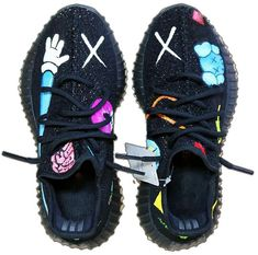 Leather shoes woman - Indie Designs Custom Made Kaws x Yeezy 350 – Leather shoes woman Sneakers Mode, Custom Sneakers, Custom Shoes, Sneakers Fashion, Custom Jordans, Fashion Shoes, Men's Fashion, Fresh Shoes, Hype Shoes