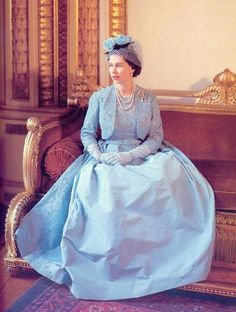 May 6, 1960: Queen Elizabeth on the day of Princess Margaret's wedding. [photo: Cecil Beaton]
