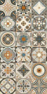 Decorating your floor with ceramics can add a much-needed pop of color to your home. Ceramic tiles and quite affordable and give your home an elegant and unique touch without drowning out other are… Floor Patterns, Tile Patterns, Textures Patterns, Tile Art, Wall Tiles, Cement Tiles, Azulejos Diy, Tiles Texture, Tile Design