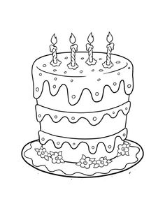 dulemba coloring page tuesdays birthday cake for anniversary