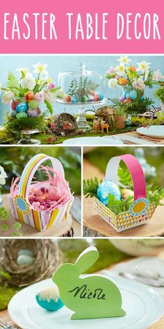 We love these sweet & simple Easter decorating ideas from Hallmark. From beautiful centerpieces to free printable bunnies and baskets, these entertaining and DIY decor ideas are bound do help you dress up your table.