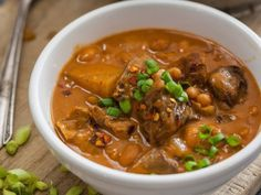 Warm up this winter with a steaming bowl of this Slow-Cooker Beef & Bean Stew. [Sponsored by Hidden Valley]