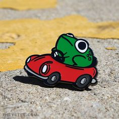 Time to save. Make it quick, he's got places to be, and flies to catch! tall hard enamel pin designed by Amanda Flagg Arte Indie, Arte Do Kawaii, Frog Art, Jacket Pins, Cute Frogs, Frog And Toad, Cool Pins, Pin And Patches, Kermit