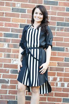 Oakleigh Rose - Slimming Stripes Dress, $47.00 (http://www.oakleighrosestyle.com/slimming-stripes-dress/)