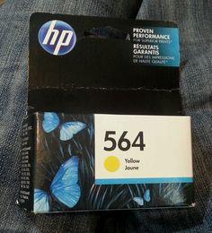NEW sealed HP 564 YELLOW INK CARTRIDGE Jaune, printer, NIP, Exp. Date Oct 2016 #HP