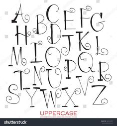 Hand drawn written Upper case letters of red chalk black pencil alphabet hand drawn written Chalk Lettering, Hand Lettering Alphabet, Doodle Lettering, Creative Lettering, Lettering Styles, Calligraphy Letters, Brush Lettering, Handwriting Fonts Alphabet, Fancy Fonts Alphabet