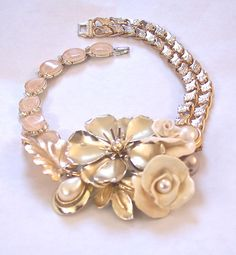 I think i have this large brooch.... Necklace Repurposed Vintage Choker Flowers by secondlookjewelry, $145.00