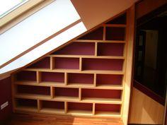 slanted shelves