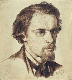 Rossetti, Dante Gabriel, self 1855  pen and Indian ink and brown ink on paper
