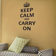 Keep Calm and Carry On Vinyl Wall Room wall decal quote sticker Inspiration