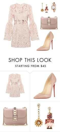 """Untitled #270"" by nadiralorencia on Polyvore featuring Christian Louboutin, Valentino, Betsey Johnson, Gucci, women's clothing, women's fashion, women, female, woman and misses"