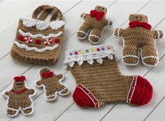 Gingerbread Stocking & Gift Set Crochet Pattern